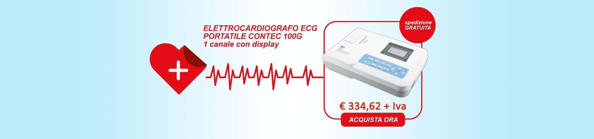ELETTROCARDIOGRAFO ECG PORTATILE CONTEC 100G