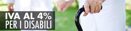 Iva al 4% per i disabili - Medisanshop.com