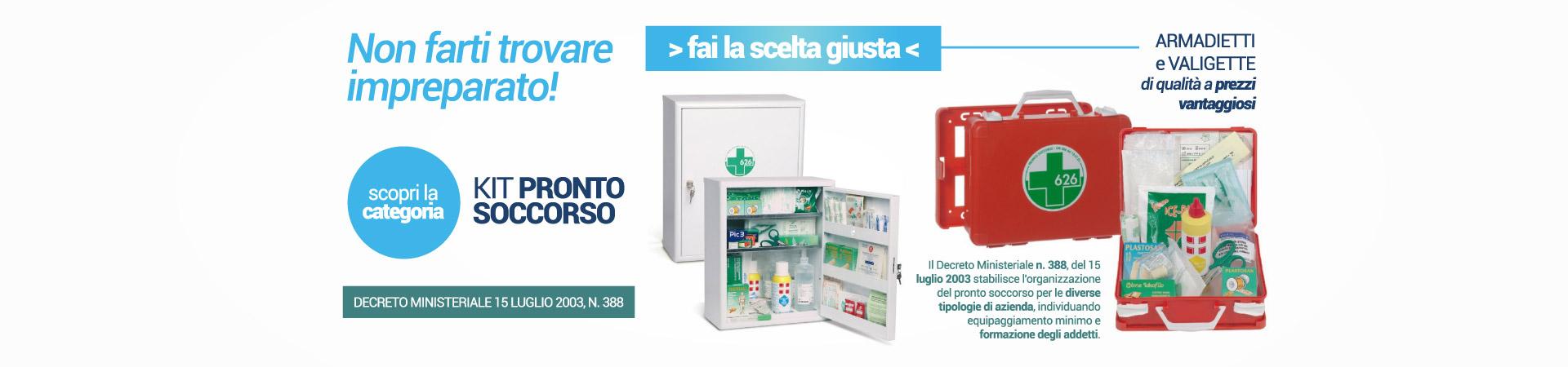 Kit Pronto Soccorso altri prodotti per Ortopedia | Elettromedicali | Forniture Ospedaliere | Medisanshop.com