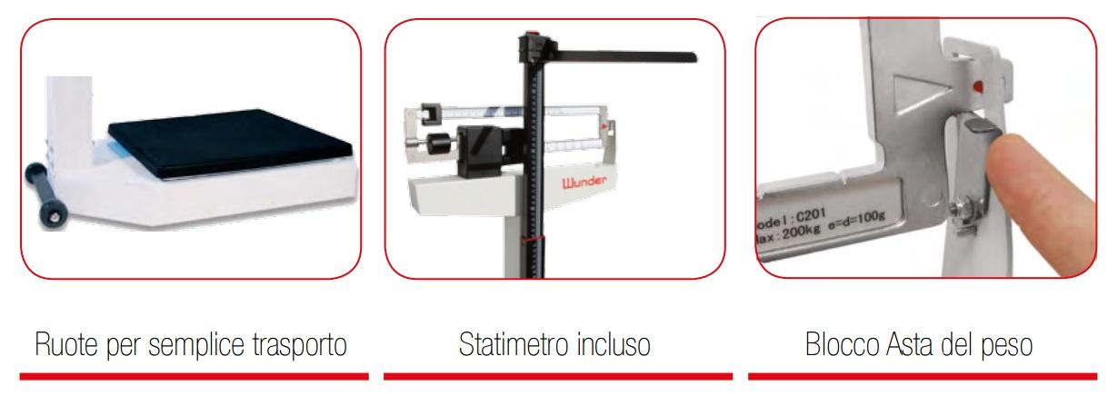 Bilancia pesapersone meccanica C201 Wunder