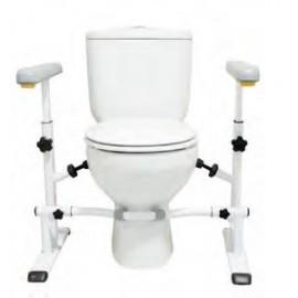 SOSTEGNO PER ALZARSI E SEDERSI DAL WC - REGOLABILE IN ALTEZZA
