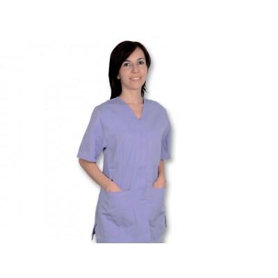 CASACCA MEDICO/SANITARIA CON BOTTONI - Donna - Viola - Mis. M