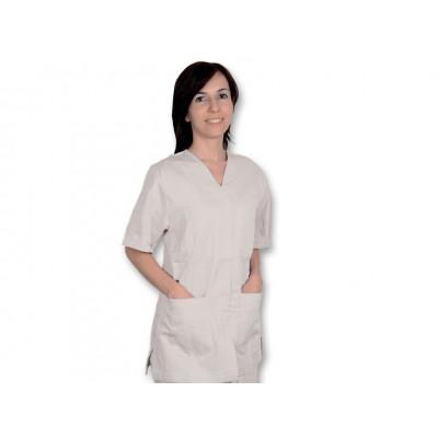 CASACCA MEDICO/SANITARIA CON BOTTONI - Unisex - Bianco - Mis. L