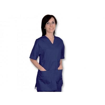 CASACCA MEDICO/SANITARIA CON BOTTONI - Unisex - Blu scuro - Mis. XL