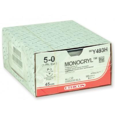 SUTURA ASSORBIBILE ETHICON MONOCRYL - 5/0 ago 19 mm - Conf. da 36 pz.