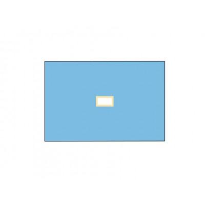 TELO CHIRURGICO STERILE IN TNT - 100 x 150 cm - con foro 9x18 cm - Conf. 25 pz