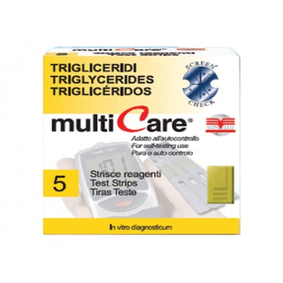 MULTICARE® STRIP TRIGLICERIDI - 5 pz. + 1 chip