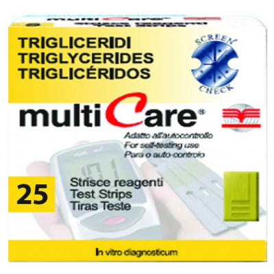 MULTICARE® STRIP TRIGLICERIDI - 25 pz. + 1 chip