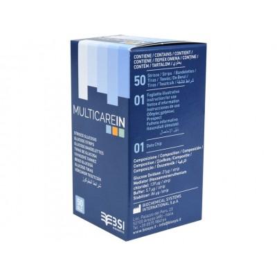 STRISCE GLICEMIA MULTICAREIN - Conf. da 50pz - (cod. 23965/66/67 e 24150/1/2)