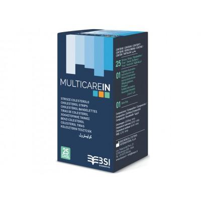 STRISCE COLESTEROLO MULTICAREIN - Conf. da 25pz - (cod. 23965/66/67 e 24150/1/2)