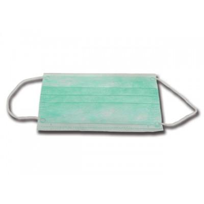 MASCHERINA ADULTO 3 VELI - verde con elastici auricolari - Conf. 1000 pezzi