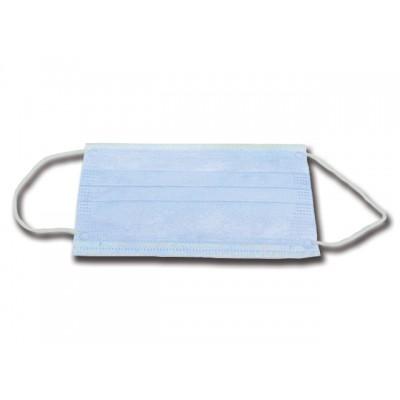MASCHERINA ADULTO 3 VELI - azzurra con elastici auricolari - Conf. 1000 pezzi