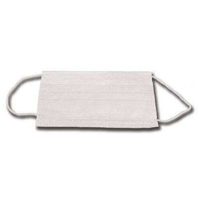 MASCHERINA PEDIATRICA 3 VELI - bianca con elastici auricolari - Conf. 1000 pezzi