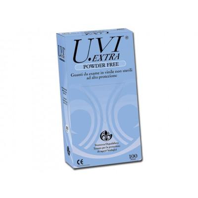GUANTI IN VINILE - senza polvere - Mis. media - Conf. da 100 pz