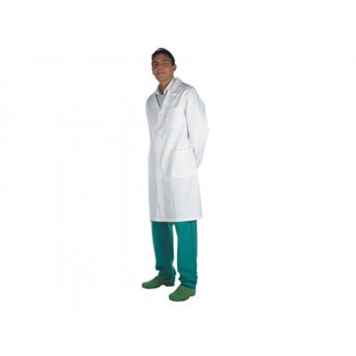 CAMICE MEDICALE CON AUTOMATICI - UNISEX - Bianco - Taglia 44
