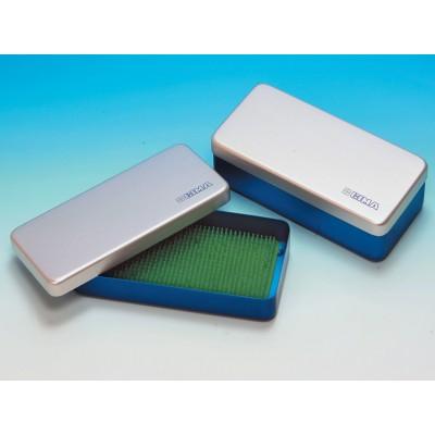 SCATOLA ALLUMINIO - 18.5 x 9.5 x 3 cm - blu
