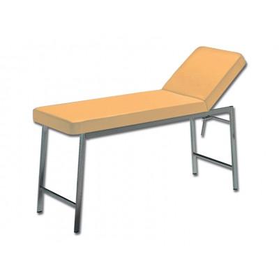 LETTINO MEDICO CLASSICO DA VISITA - cromato - albicocca - 180x57x73 Cm