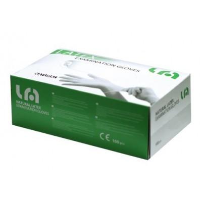 GUANTI MONOUSO IN LATTICE TALCATI - Taglia S - 5g - conf. 100 pz