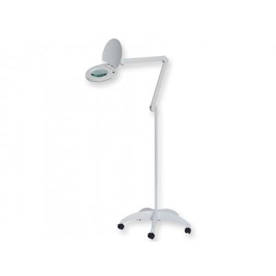 LAMPADA A LED LUPA - SU CARRELLO - LENTE INGRANDIMENTO A 5 DIOTTRE