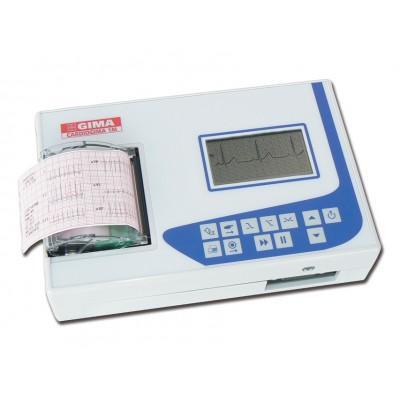 ECG ELETTROCARDIOGRAFO PORTATILE CARDIOGIMA 1M - 1-3 canali - con monitor