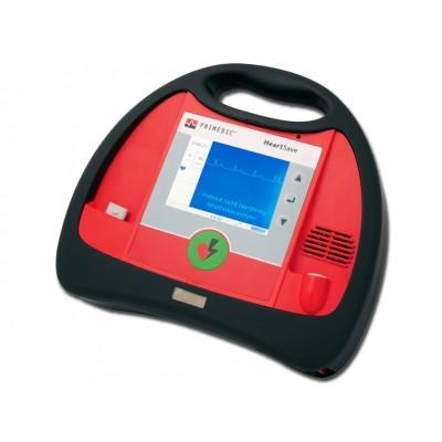 DEFIBRILLATORE HEART SAVE AED-M - con monitor, batteria ricaricabile AKUPAK e sistema di ricarica POWERPACK - inglese, italiano, spagnolo