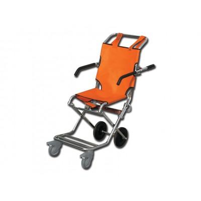 SEDIA PORTANTINA - arancione/cromata