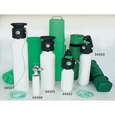 BOMBOLA OSSIGENO - con riduttore di pressione UNI integrato - 3 l
