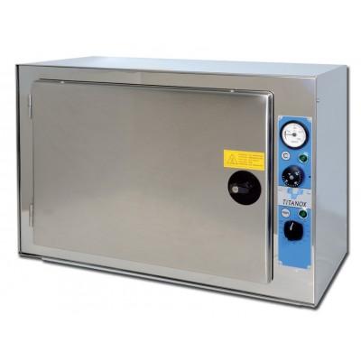 STERILIZZATRICE A SECCO TERMOVENTILATA - PIANI REGOLABILI - 120 litri - Gima Mod. Titanox