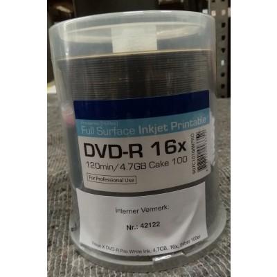 DVD-R MEDICALE PER MASTERIZZAZIONE RADIOGRAFIE - 4,7gb - Conf. 100pz