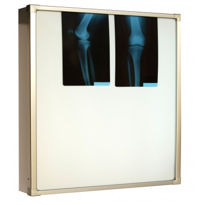 Negativoscopio diafanoscopio 120x120 cm - verticale 2 settori - acciaio inox