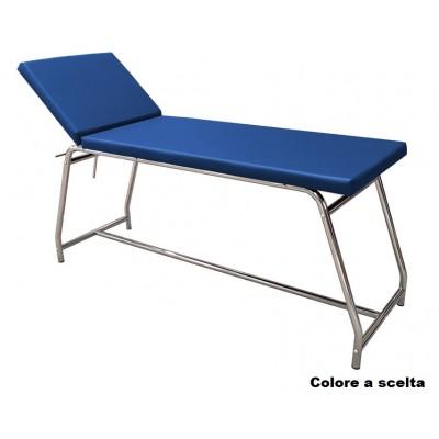 LETTINO MEDICO DA VISTA VALUE - SCHIENALE REGOLABILE - CROMATO