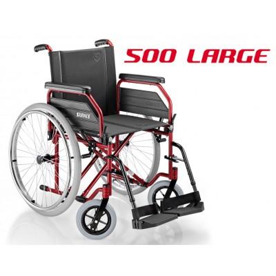 SEDIA A ROTELLE / CARROZZINA DISABILI AD AUTOSPINTA - Dim. Seduta 53 Cm. - Mod.SURACE 500 X LARGE