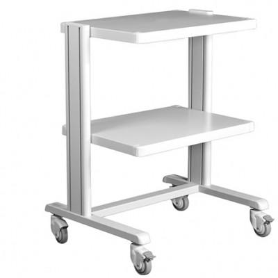 CARRELLO BASIC - IN ALLUMINIO - Dim. 45x43 cm - 2 RIPIANI - Portata max 60 kg