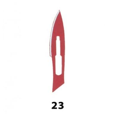 LAMA BISTURI MONOUSO IN ACCIAIO INOX STERILE N.23 - Conf. 100 pezzi