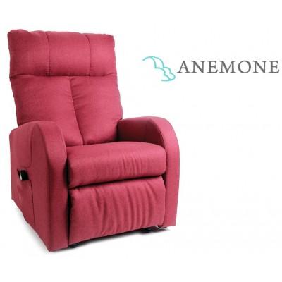 POLTRONA RELAX A 2 MOTORI - ALZAINPIEDI - Moretti Anemone - Rosso
