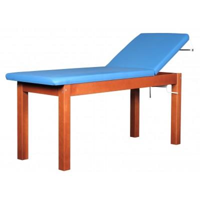 LETTINO MEDICO IN LEGNO - VISIT WALNUT - BASE REGOLABILE - 70x185x75 cm - Colore a scelta