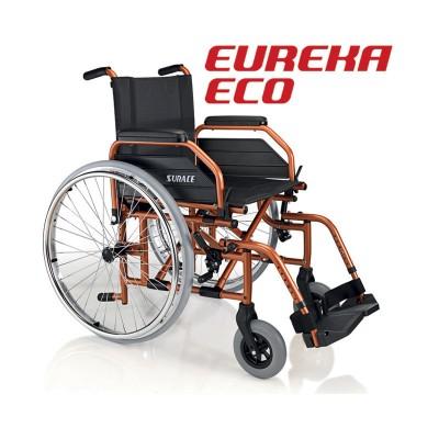 SEDIA A ROTELLE / CARROZZINA DISABILI AD AUTOSPINTA SUPERLEGGERA - DOPPIA CROCIERA - Dim. Seduta 44 Cm. - Surace Mod. Eureka Eco
