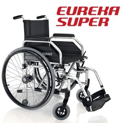 SEDIA A ROTELLE / CARROZZINA DISABILI AD AUTOSPINTA SUPERLEGGERA - DOPPIA CROCIERA - Dim. Seduta 44 Cm. - Surace Mod. Eureka Super