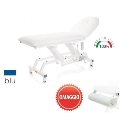 LETTINO ELETTRICO PER VISITA MEDICA MORETTI Mod.Lytus - PIANO DA 68 CM SENZA RUOTE - Colore Blu - PORTAROTOLO IN OMAGGIO