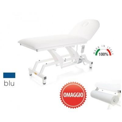 LETTINO ELETTRICO PER VISITA MEDICA MORETTI Mod.Lytus - PIANO DA 90 CM SENZA RUOTE - Colore Blu - PORTAROTOLO IN OMAGGIO