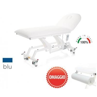 LETTINO MEDICO ELETTRICO - PORTAROTOLO INCLUSO - 90 cm - Lytus - Blu - con ruote