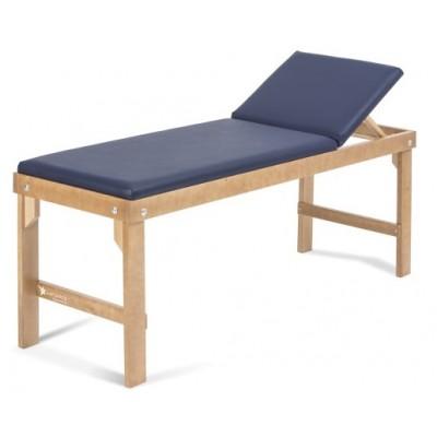 LETTINO MEDICO REGOLABILE DA VISITA - IN LEGNO - Antares - Blu