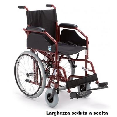 CARROZZINA AD AUTOSPINTA PIEGHEVOLE - ALLUMINIO - INGOMBRO RIDOTTO