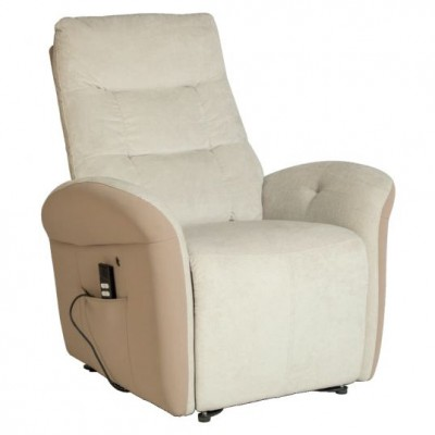POLTRONA RELAX - 2 MOTORI - WIMED GALICE - BEIGE/CANAPA