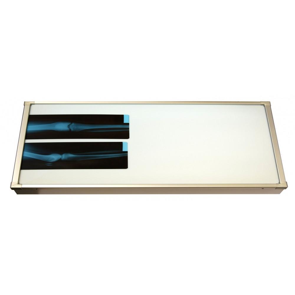 Negativoscopio diafanoscopio 120x42 cm - orizzontale - verniciato