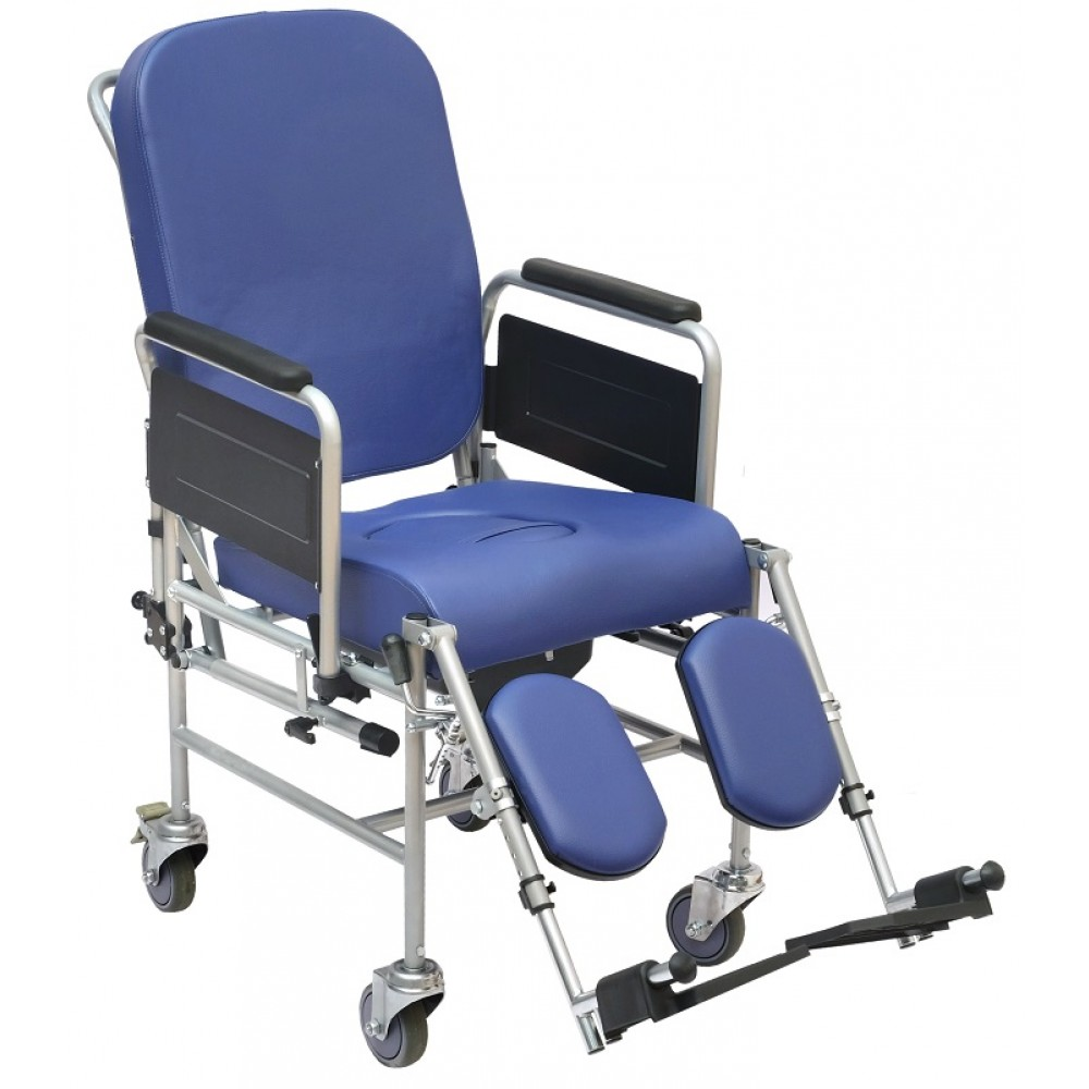 Sedia comoda con schienale reclinabile - ruote 100 mm - Wimed