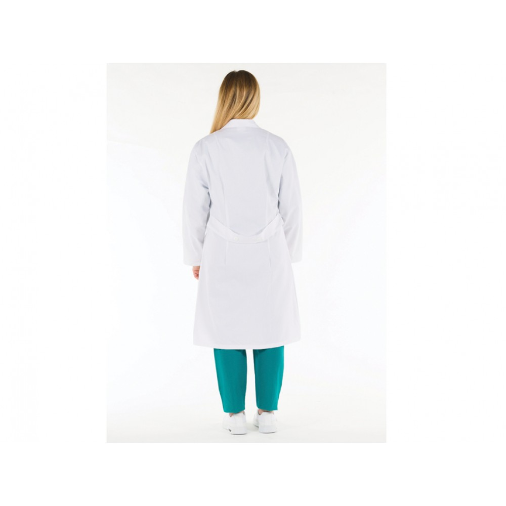 CAMICE MEDICO PROFESSIONALE DA DONNA - BIANCO - COTONE - Tg: 52