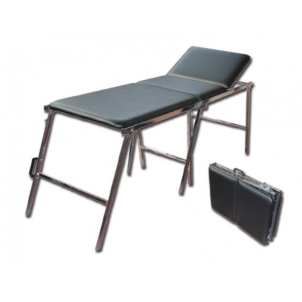 Lettino Pieghevole Per Massaggio.Lettino Da Visita E Massaggi A Valigia Pieghevole Nero