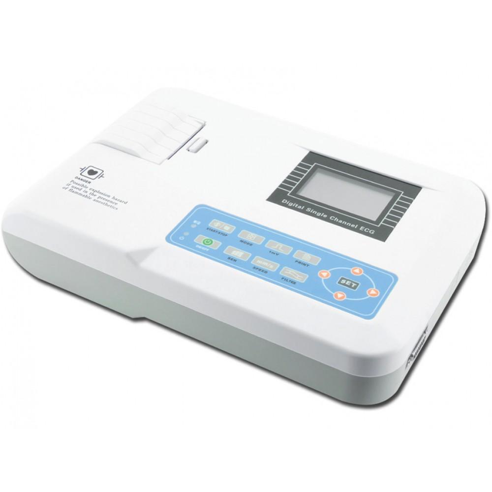 ELETTROCARDIOGRAFO ECG PORTATILE CONTEC 100G - BORSA IN OMAGGIO - 1 canale con display