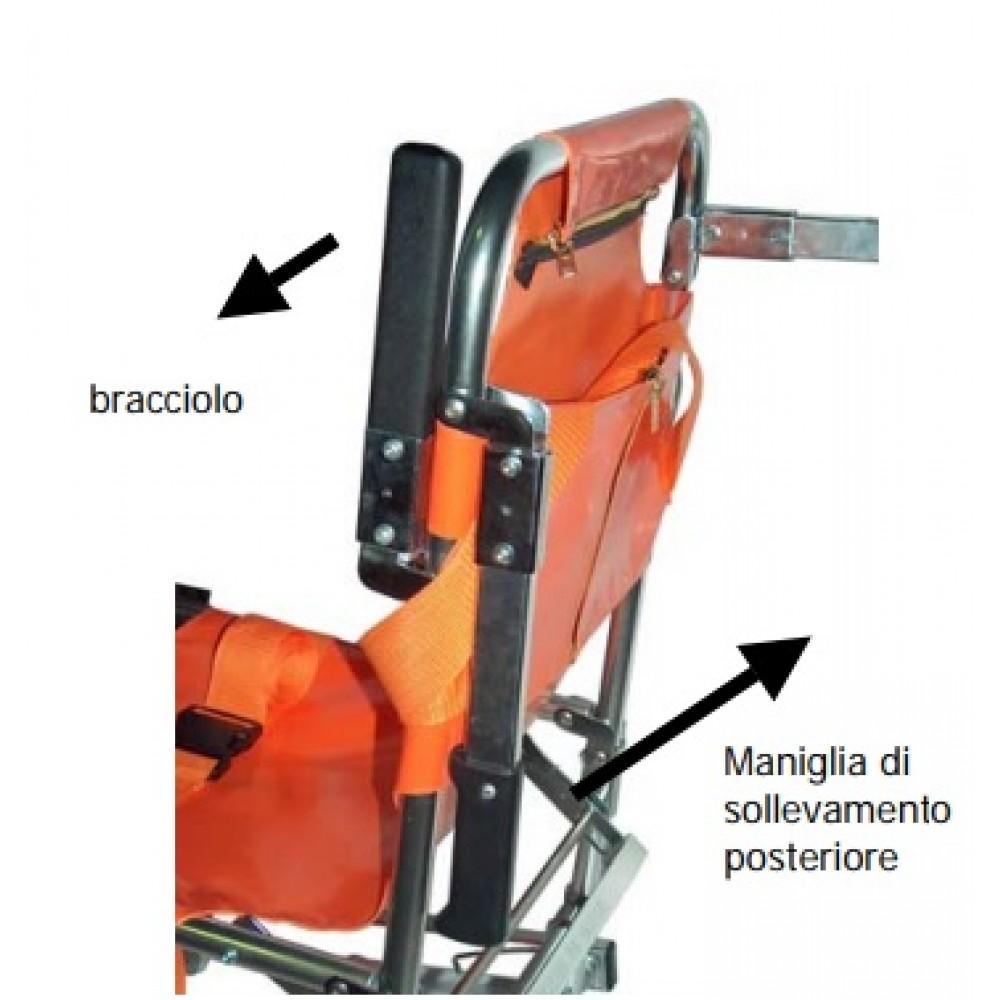 Barella a sedia portantina a 2 ruote fisse - Gima 34060